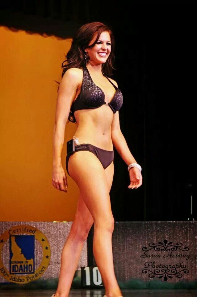 Miss Idaho 2014, Sierra Sandison, a Type 1 Diabetic, rocking her insulin pump during the swimsuit competition.