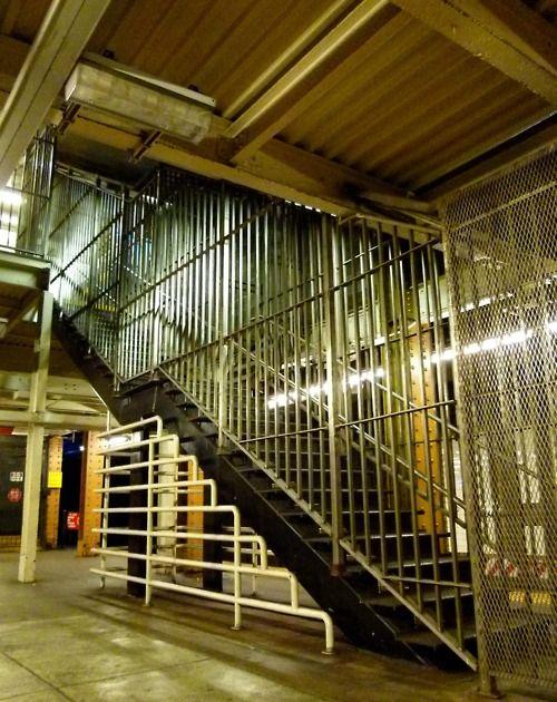 Riker's Island stairway - note the different metal patterns.
