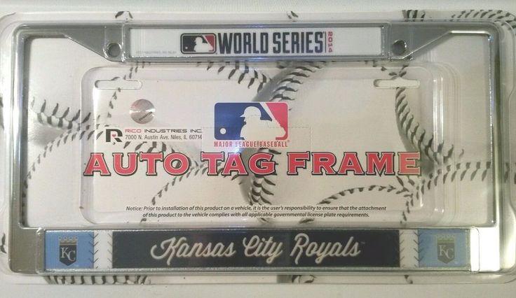 Royals World Series 2014 Baseball American Auto Tag Chrome Frame #Rico #KansasCityRoyals