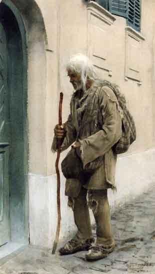 Anders Zorn - Beggar standing by door (En valacktiggare)