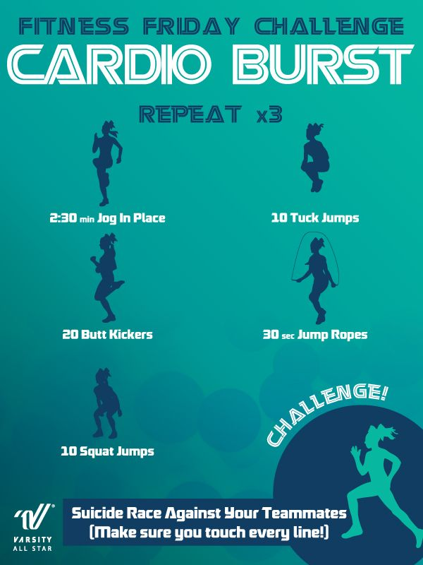 Challenge yourself with this Cardio Burst workout!