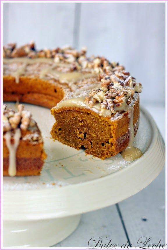 Dulce de Leche - Tekvicový koláč s polevou z javorového sirupu a orechov