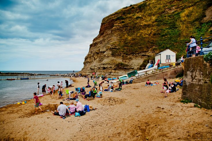 The beach at Staithes, North Yorkshire (photo Chris J Parker) #staithes #beach