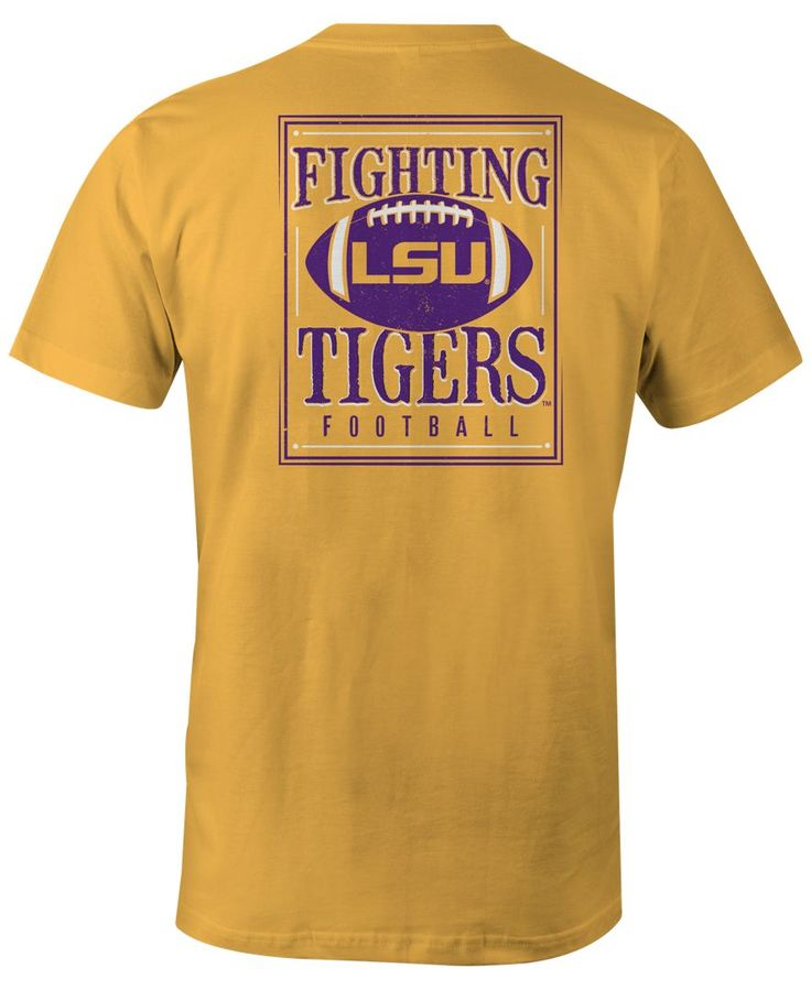 Image One Men's Lsu Tigers Distressed Football T-Shirt