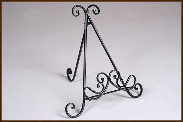 Garden and Home Decor Picture Stand Black Lrg   32x31x37cm