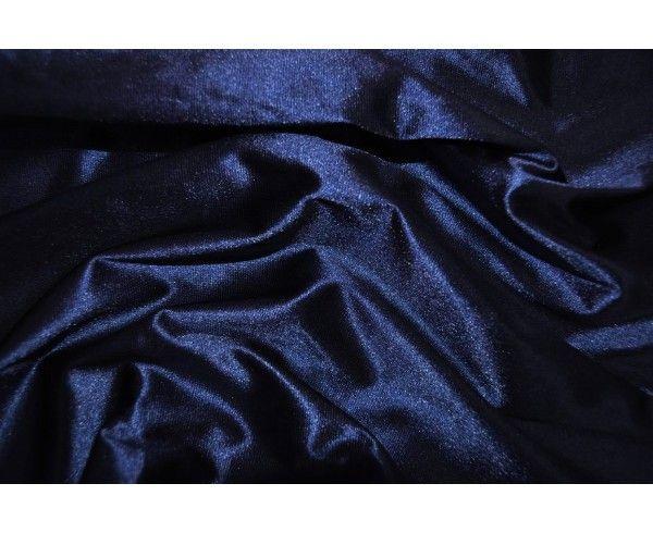 tela Satén elástico marino por metro
