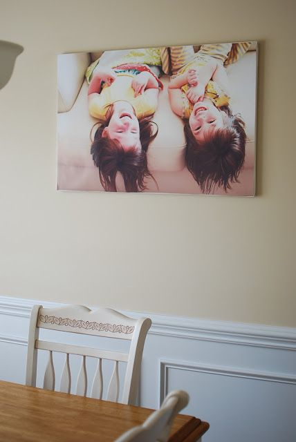 Laynie and Belle: Canvas my way!  Color canvas print.  Order and staple to frame for inexpensive way to color print your decor.
