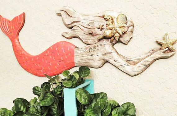 Mermaid Decor, Mermaid Wall Decor, Mermaid Girls, Mermaid Gifts, Nautical Decor, Nautical Nursery, Nautical Bathroom, Coastal Decor, Beach