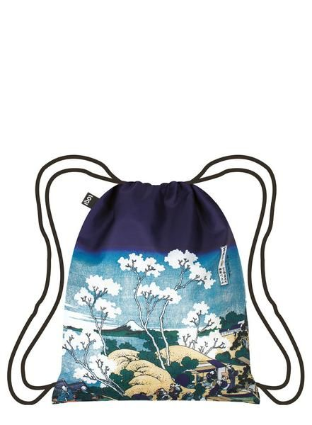 "#Hokusai #backpack #LOQI.A lovely landscape. Beautiful blossoms. A monumental Mount Fuji. Soak up this scenic scene from Hokusai's epic series, ""Thirty-Six Views."""
