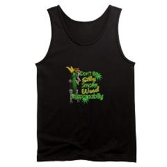 Valxart Dont be silly Smoke weed Responsabilly on black tank top