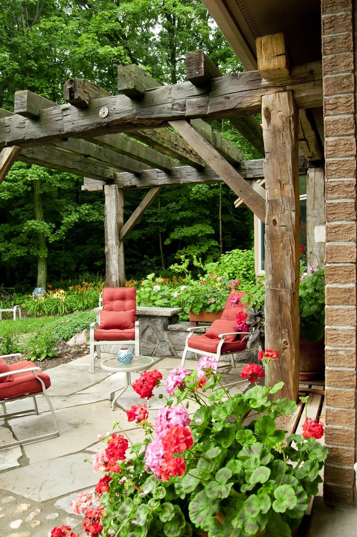 Outdoor Living Spaces With Images Rustic Pergola