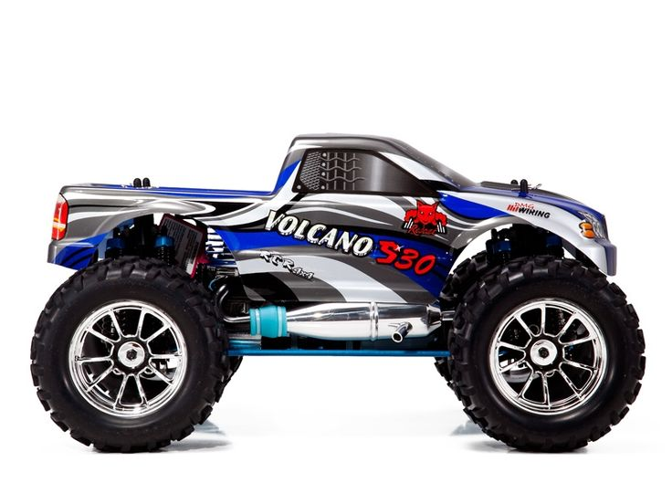 Enjoy the awesome power of the REDCAT RACING NITRO RC TRUCKS BLUE VOLCANO S30 1/10 SCALE. Always Free Shipping!