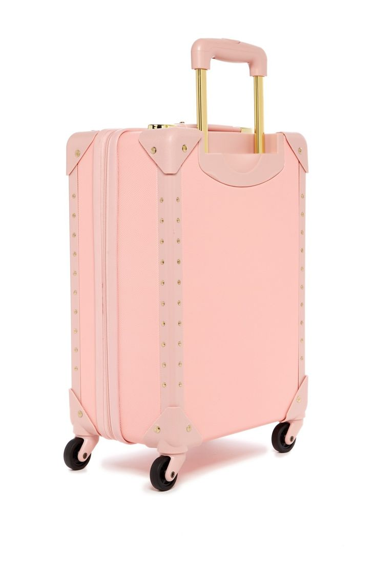 """Pretty in pink!  Vince Camuto 18"""" Spinner Hardside Suitcase"""