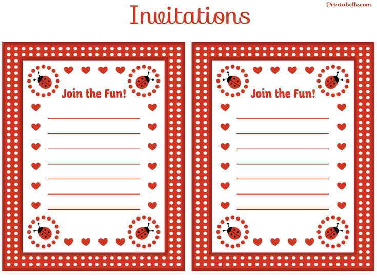 Best 25+ Ladybug invitations ideas on Pinterest Ladybug party - free birthday template invitations