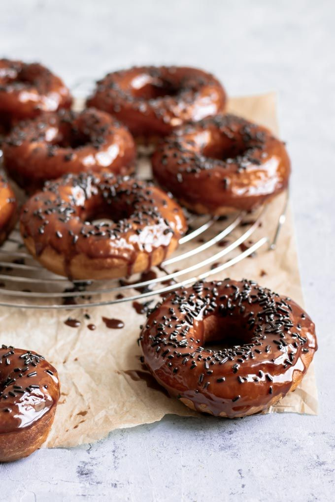 Vegan Chocolate Glazed Doughnuts Recipe Vegan Party Food Glazed Doughnuts Chocolate Doughnut Glaze