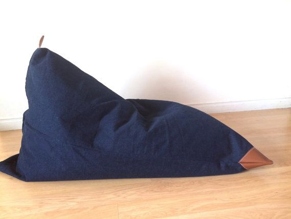 Pear Bean Bag ADULT SIZE Pouf  reading seat by Cyandegre on Etsy