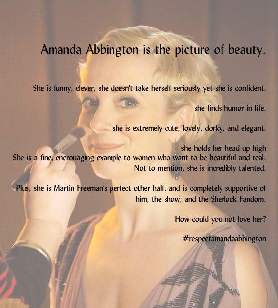 Amanda Abbington Mary Morstan Sherlock BBC #respectamandaabbington