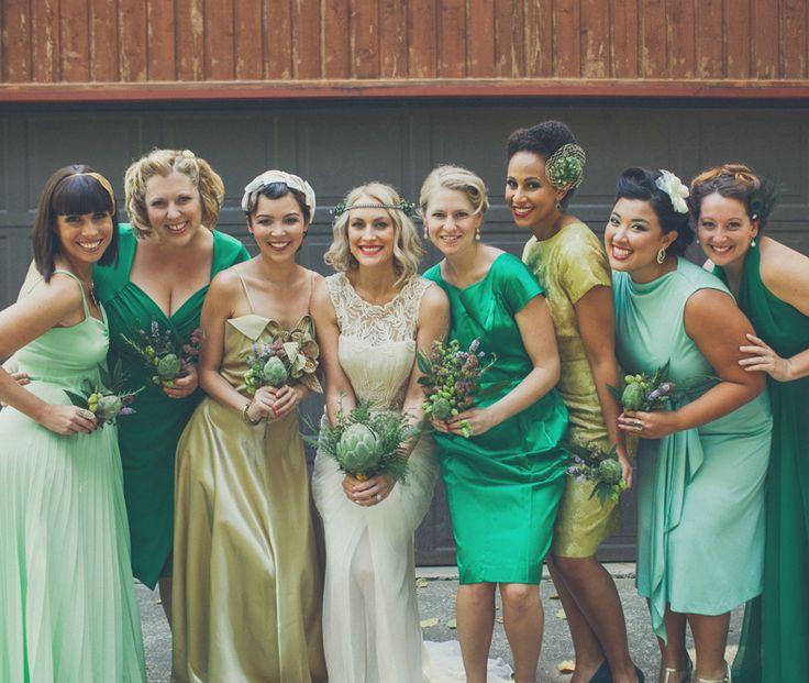 My Wedding 12 Vintage Bridesmaids Www Onelovephoto Gold Dressesgreen