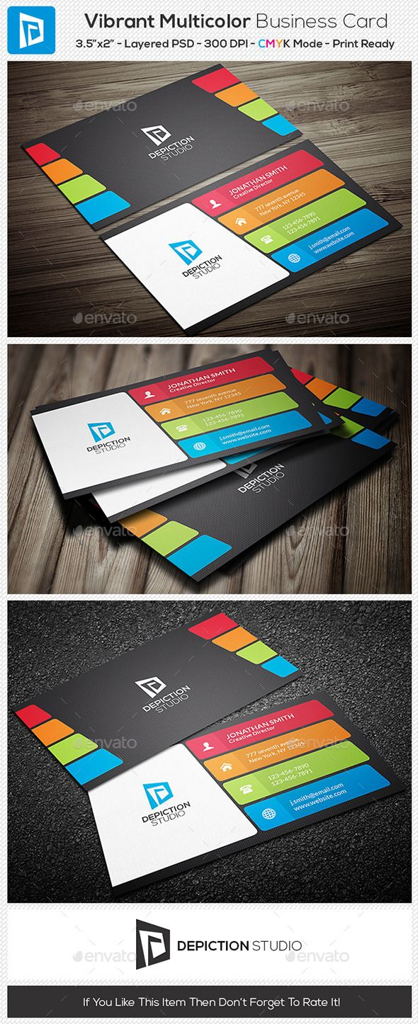 12 best business cards images on pinterest carte de visite vibrant multi color business card creative business cards reheart