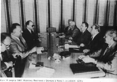 The government of Poland sat down to talk, until the Soviet Government in Russia started twisting their arm, and then the hammer came down.