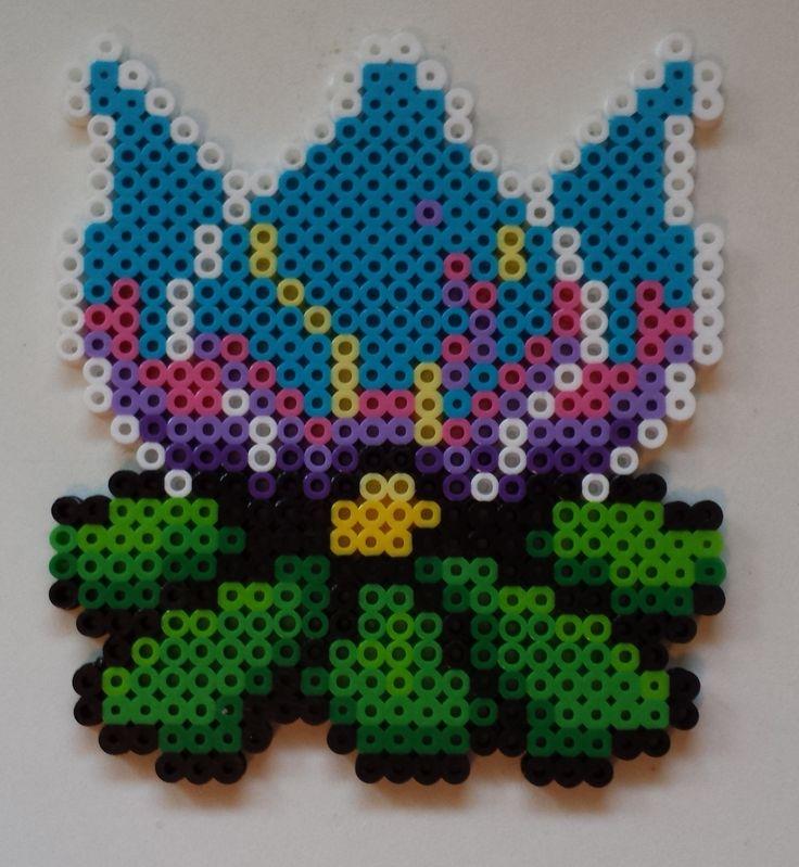Perler bead Mario lotus flower.