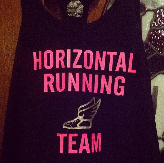 Horizontal Running Team tank top shirt/Pitch by easypeasydesign