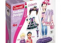 Fashion Design - Lisbeth Quercetti. Fashion Design face trecerea de la papuselele clasice de hartie la cele din magneti. Astfel, este mult mai usor sa fii un fashion-designer, imbracand un singur manechin in numeroase feluri. Se pot face combinatii intre accesorii, haine, incaltaminte. http://bebeart.ro/categorii/jucarii-educative/3