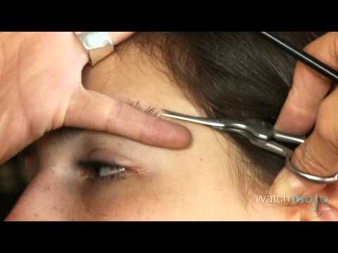 How To Trim Your Eyebrows Without A Tweezer - YouTube