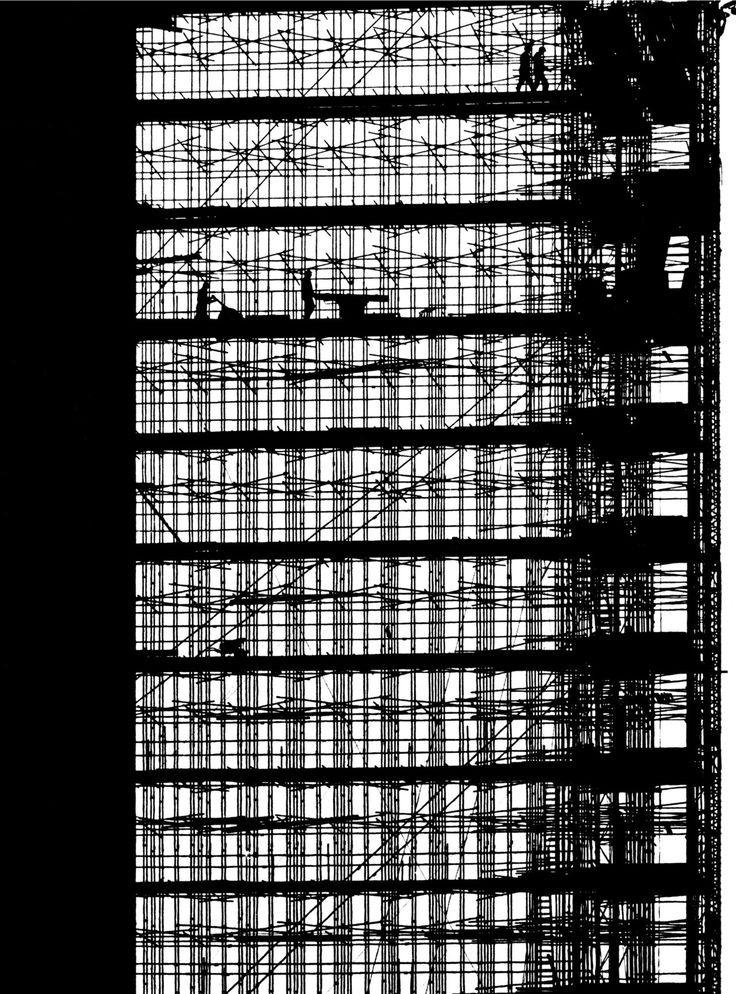 Aart Klein - Phillips Headquarters under construction, Eindhoven, 1961