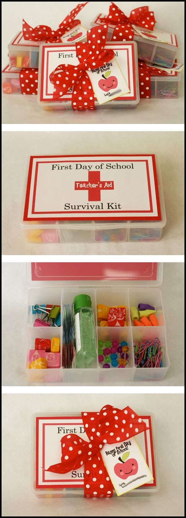 First day of school survival kit Teacher Appreciation Gift. #TeacherGift