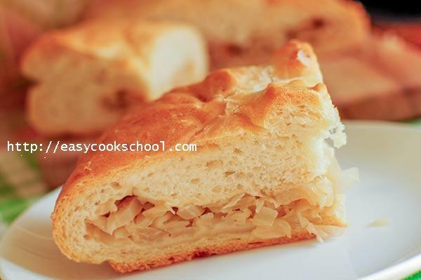 Пирог с капустой из дрожжевого теста в духовке: рецепт с фото | Легкие рецепты