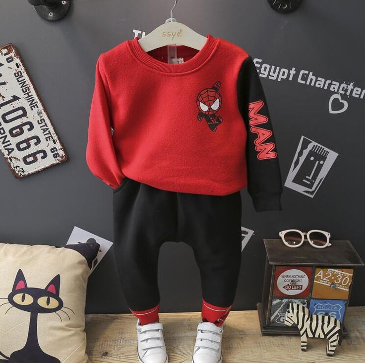>> Click to Buy << 2016 Winter and autumn children new boys warm pullover thickening fleece leisure two-piece suit boy 2pcs clothes sets #Affiliate