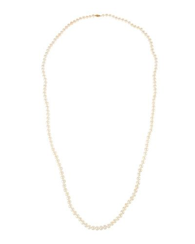 "White Freshwater Cultured Pearl Rope Necklace, 50""L"