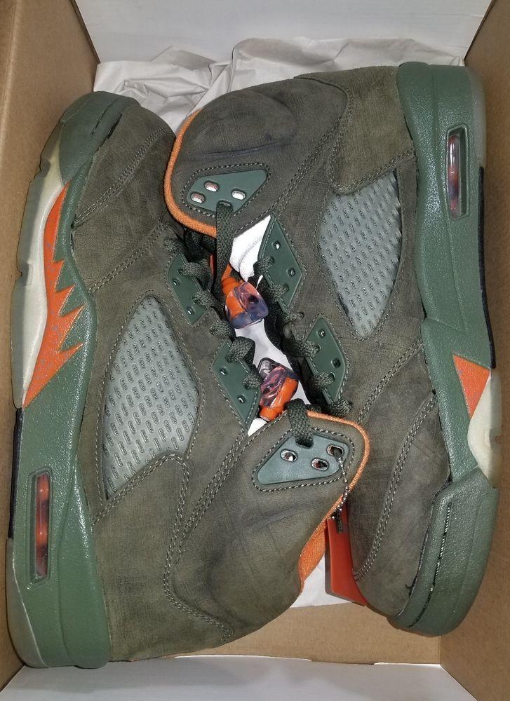 d6848ebe29d8 Nike Air Jordan 5 V Retro LS Army Olive Solar Orange Sz 10 314259-381 RARE   fashion  clothing  shoes  accessories  mensshoes  athleticshoes (ebay link)