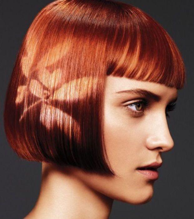 Hair stencil fleur