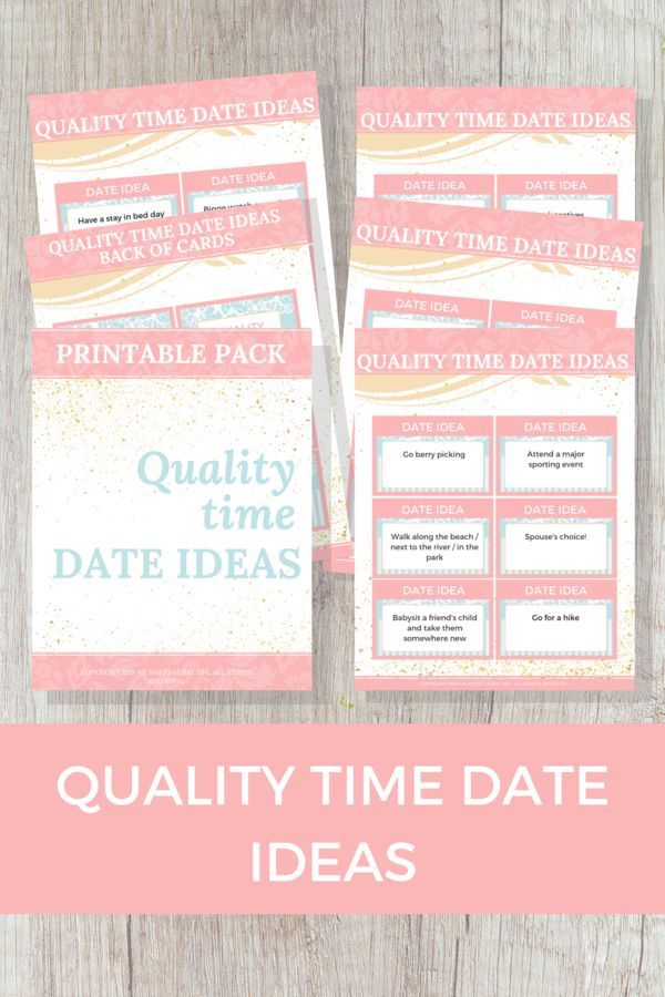 If Your Love Language Or That Of Your Spouses Is Quality Time Then Youll Love This Quality Time Date Idea Printable Pack With 30 Quality Time Date Ideas