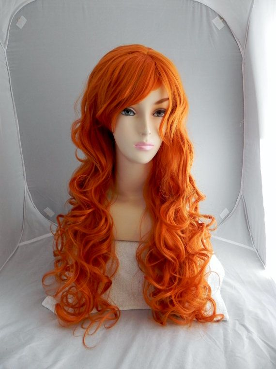 Happy Holidays Sale Orange Ginger Long Curly By