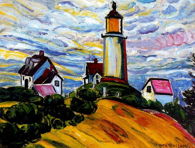 Malfatti, Anita (1889-1964) - 1915 Lighthouse by RasMarley
