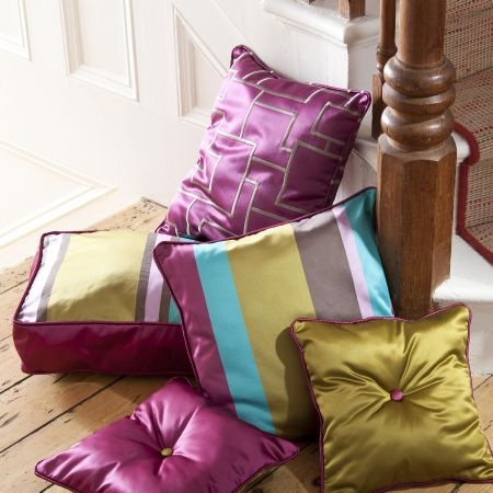 """Prestigious Textiles """"Sophistication"""" fabric collection assorted cushions"""