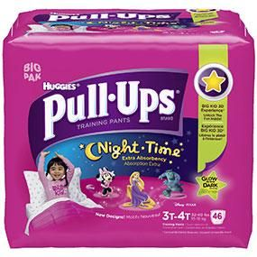 Huggies Pull-Ups Night-time Training Pants, Size 3T – 4T, Girl, 46 Count (Pack of 2) | BabyLove.myonlinebiz4u2.com