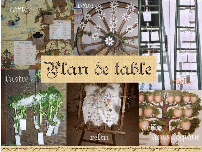 Plan de table en velin