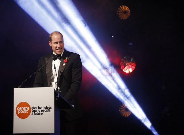 Prince William, Duke of Cambridge speaks during Centrepoint at the Palace, a fundraising event in the grounds of Kensington Palace on November 10, in London, England.