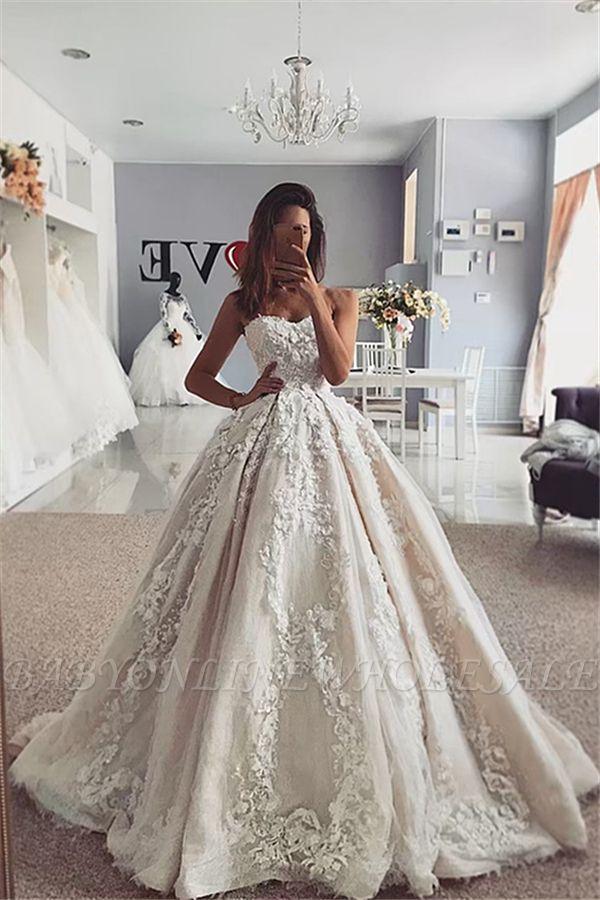 Trendy Ivory Sweetheart Ball Gown Wedding Dress Online In 2020 Ball Gowns Wedding Gorgeous Wedding Dress Online Wedding Dress