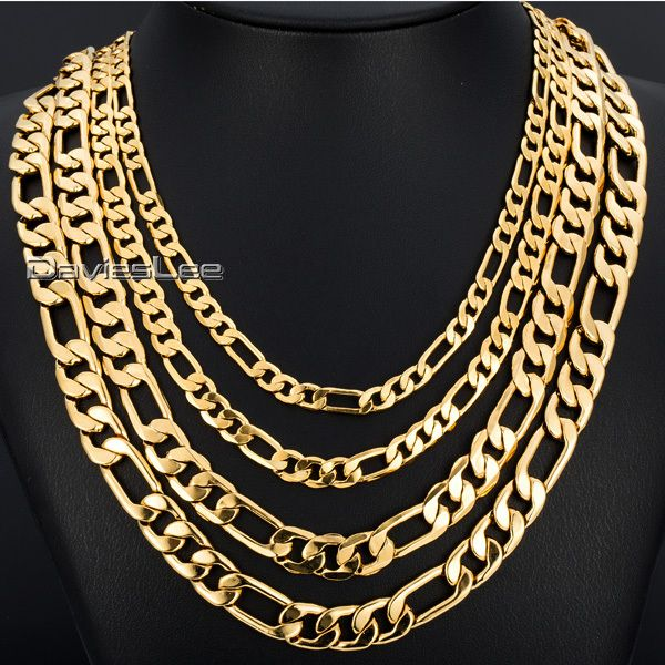 Cheap set soccer, Buy Quality set golf directly from China set sheet Suppliers:          3.5/4.5mm 18-36inch Flat CUT FIGARO  Mens Boys Chain Necklace Chain 18K Rose(4.5mm) Yellow(3.5mm) Gold Filled N