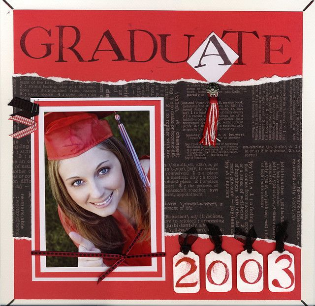 graduation scrapbooking layout www.goingtothrive.com