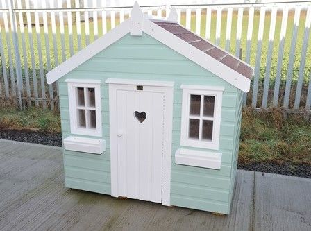 Mint and white colour scheme home sweet home pinterest for Wooden wendy house ideas