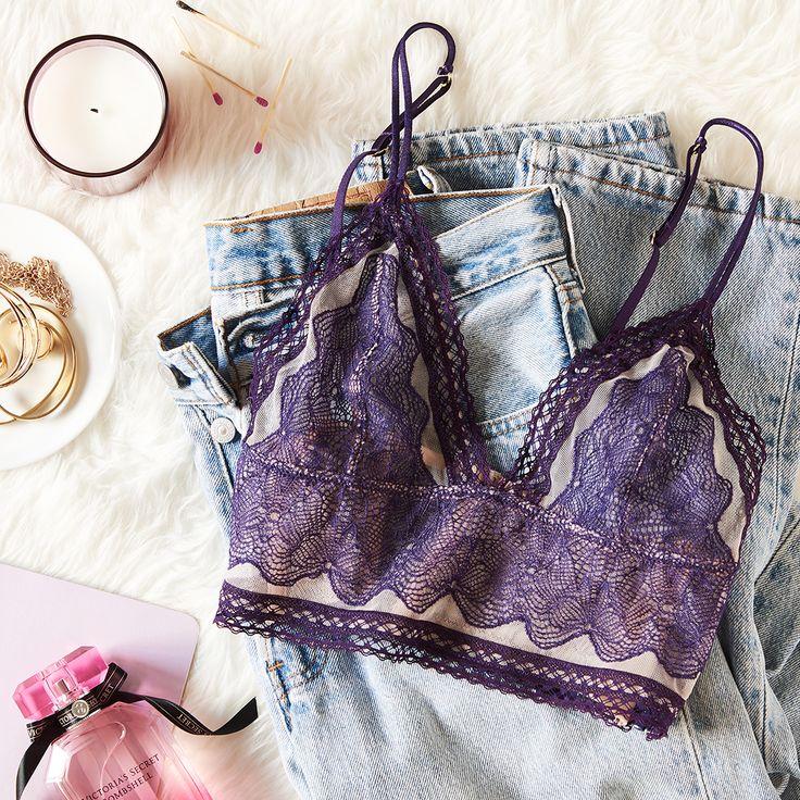 Laid-back looks start with a little lace. | Victoria's Secret