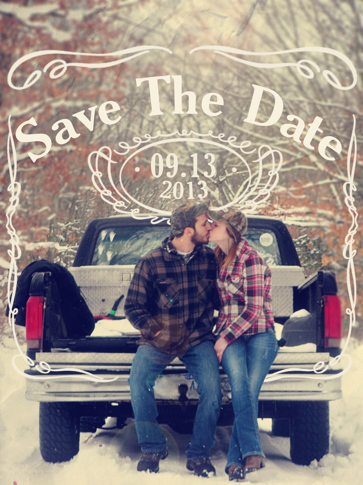 Save the date Jack Daniels style @Julie Schrotenboer