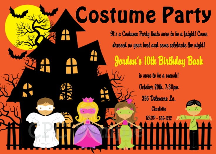 46 best halloween disco images on pinterest aud invite and halloween birthday invitation halloween costume party invitations boy girl printable 1500 via etsy filmwisefo