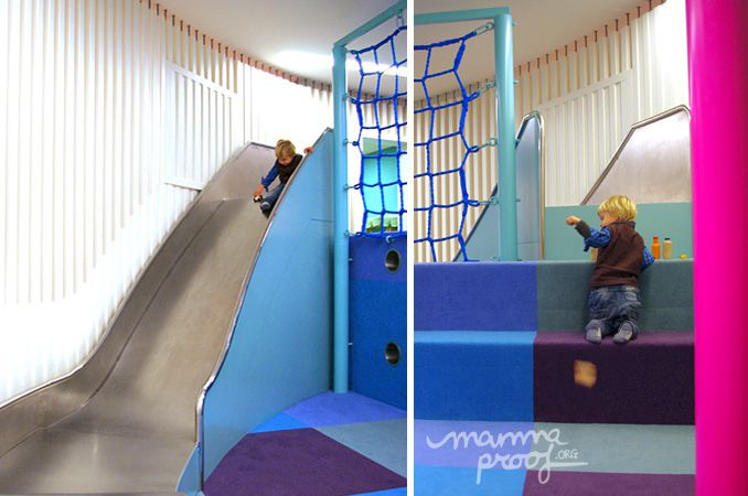 Peekaboo tobogan Peek a Boo, servicio de ludoteca y parque infantil, un multiespacio de diseño para disfrutar en familia